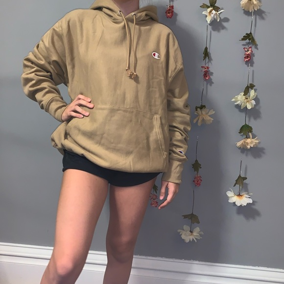 Champion Other - NWOT taupe reverse weave champion uo hoodie large